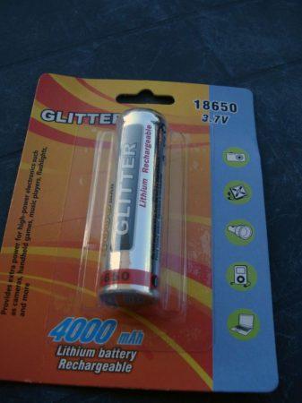 Akkumulátor 18650 3,7V 4000mAh Glitter