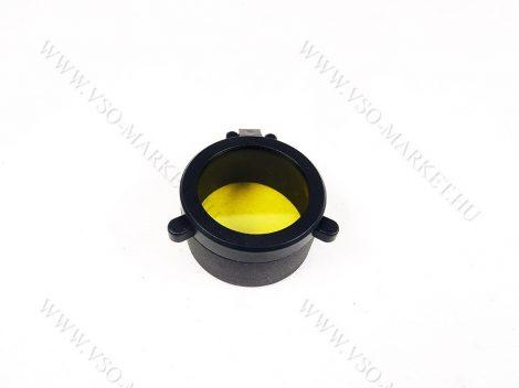 Céltávcső flipp kupak, távcső védő kupak, Sárga felpattintható védőkupak 39 mm