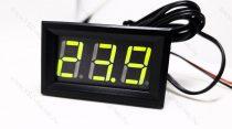 Digitális beépíthető hőmérő, digitális hőmérséklet mérő szenzor, Zöld