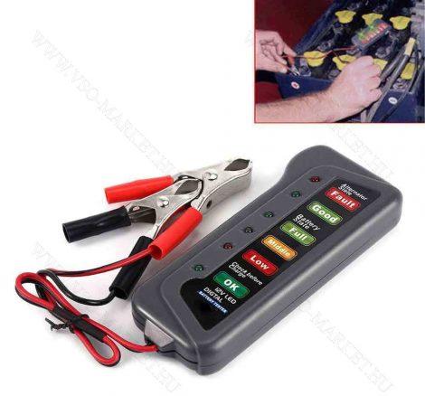 Hagyományos autós 12V feszültségmérő, voltmérő, akkumulátor gyors tesztelő