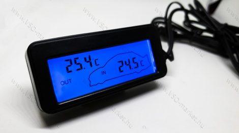 Digitális beépíthető hőmérő, digitális hőmérséklet mérő szenzor, Kék