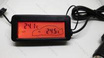 Digitális beépíthető hőmérő, digitális hőmérséklet mérő szenzor, Piros