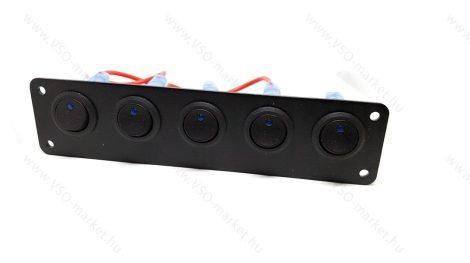Autós, 5 darabos kapcsolótábla, LED visszajelzéssel