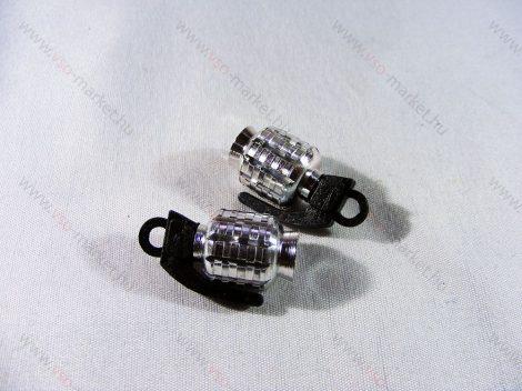 Szelepsapka kézigránát, gránát alakú kupak, ezüst, 2db