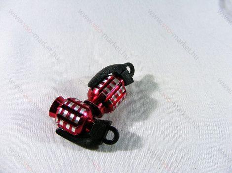 Szelepsapka kézigránát, gránát alakú kupak, piros, 2db