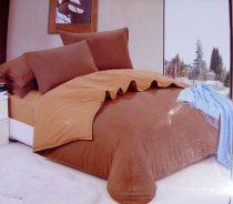 6 részes 2 színű pamut ágynemű, ágyneműhuzat garnitúra Barna