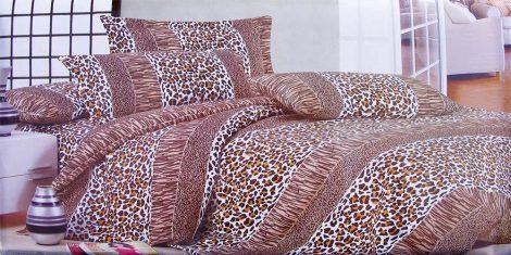 7 részes ágynemű garnitúra, barna leopárd mintás