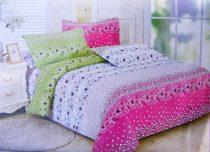 7 részes ágynemű garnitúra, pink zöld pillangós