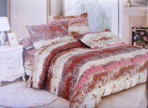 7 részes ágynemű garnitúra, bézs barna leopárd