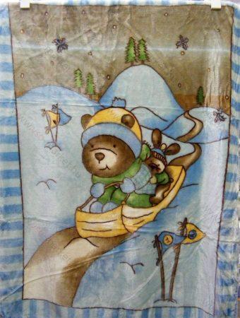 Babapléd, bébi mintás gyerek ágytakaró pléd, 100x140 cm