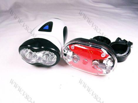 Kerékpár, bicikli LED lámpa, világítás, profi komplett nagyméretű szett