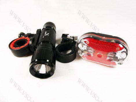 Kerékpár lámpa, bicikli lámpa, bicikli LED világítás, LED lámpa, zoom-os profi szett