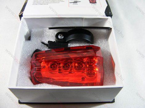 Lézeres hátsó kerékpár világítás 5 db LED-el