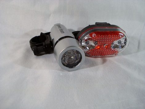 Kerékpár, bicikli LED lámpa, világítás, komplett világítás szett
