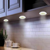 Távirányítós LED lámpa, időzíthető LED fényforrás, 3 részes beltéri LED világítás