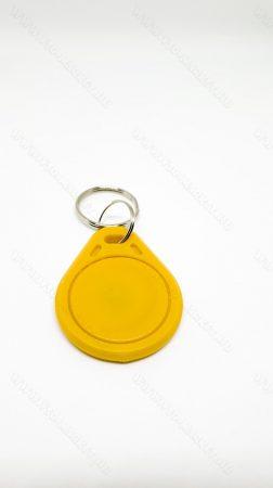 RFID kulcstartó, 13.56 Mhz RFID, NFC írható és olvasható chip, Sárga