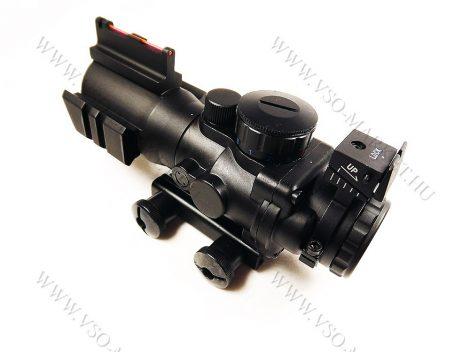 Taktikai céltávcső, légpuska, airsoft céltávcső, távcső 4x32 compact, világító szálkeresztes zoom