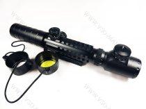 Taktikai céltávcső, légpuska, airsoft céltávcső, távcső 3-9x32 EG, világító szálkeresztes zoom
