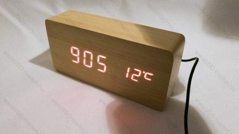 Design asztali LED óra, hang és érintés vezérelt LED óra, piros