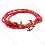 Karkötő Horgony, fém, divatos, Piros