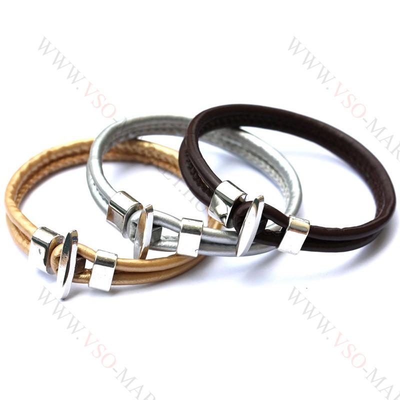 731806f647 Karkötő, Unisex divatos, elegáns vastag bőr karkötő Fehér