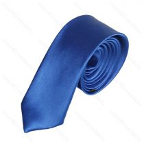 Király kék slim, vékony nyakkendő