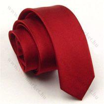 Bordó slim, vékony nyakkendő