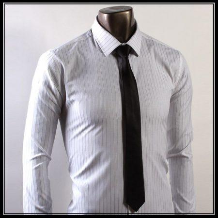 Fekete slim, vékony nyakkendő