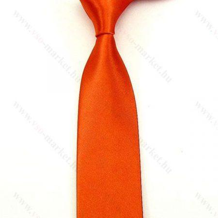 Narancssárga slim, vékony nyakkendő