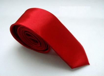 Vörös, piros slim, vékony nyakkendő