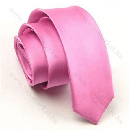 Rózsaszín slim, vékony nyakkendő