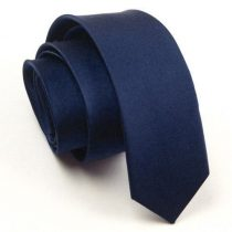 Sötét kék slim, vékony nyakkendő