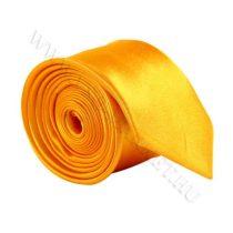 Sárga slim, vékony nyakkendő