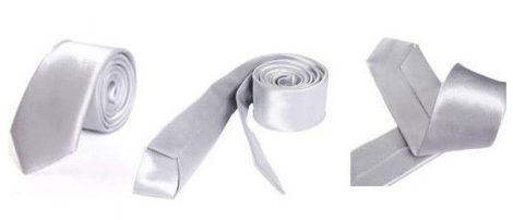 Szürke slim, vékony nyakkendő