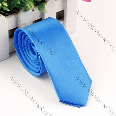 Világoskék slim, vékony nyakkendő