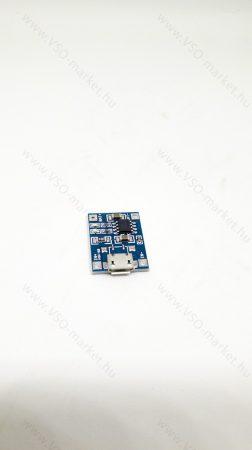 18650 Li-ion USB töltő modul, 18650 akkumulátor töltő kapcsolás