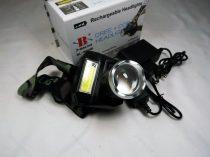Horgász  Dupla CREE zoom LED Fejlámpa,  kiegészítő COB LED csík