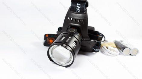 T6 CREE, 2db T6 LED-es, dupla akkumulátoros, LED fejlámpa, lámpa