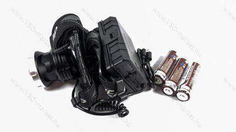 P50 CREE LED-es, brutális fényerejű, tripla akkumulátoros, LED fejlámpa, LED lámpa