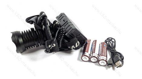 P70 CREE LED-es, brutális fényerejű, tripla akkumulátoros, LED fejlámpa, LED lámpa