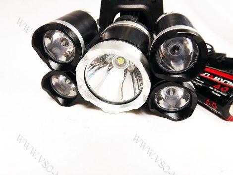 T6 CREE, zoom-os T6 LED-es, és 4db Q5 LED-es dupla akkumulátoros, fejlámpa, lámpa