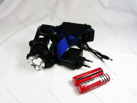 Kisméretű CREE LED Fejlámpa, tölthető Zoom, Kék