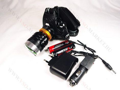 Akkumulátoros, Fejlámpa, tölthető Zoom Q5 CREE LED