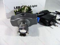 Akkumulátoros, Fejlámpa, tölthető Zoom CREE LED