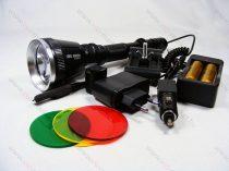 T6 LED nagy fegyverlámpa szet, mikorkapcsolós