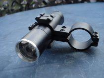 LED fegyverlámpa, LED keresőlámpa szett, zoom lencsés