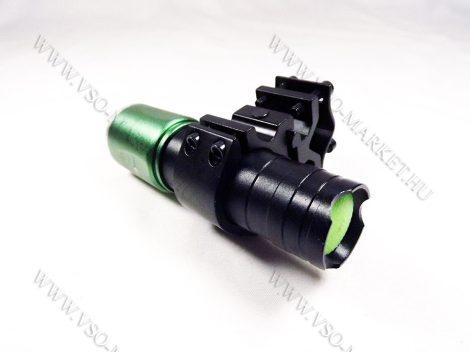 LED fegyverlámpa, LED keresőlámpa szett, zoom-os, Airsoft és légpuska