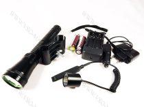 T6 nagyméretű  LED fegyverlámpa szett, mikorkapcsolós, LED vadászlámpa, LED lámpa airsoft