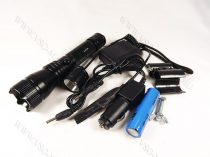 T6 LED fegyverlámpa szett, mikorkapcsolós, LED vadászlámpa, LED lámpa airsoft