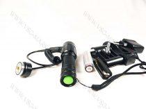T6 kisméretű, Zoom-os  LED fegyverlámpa szett, mikorkapcsolós, LED vadászlámpa, LED lámpa airsoft